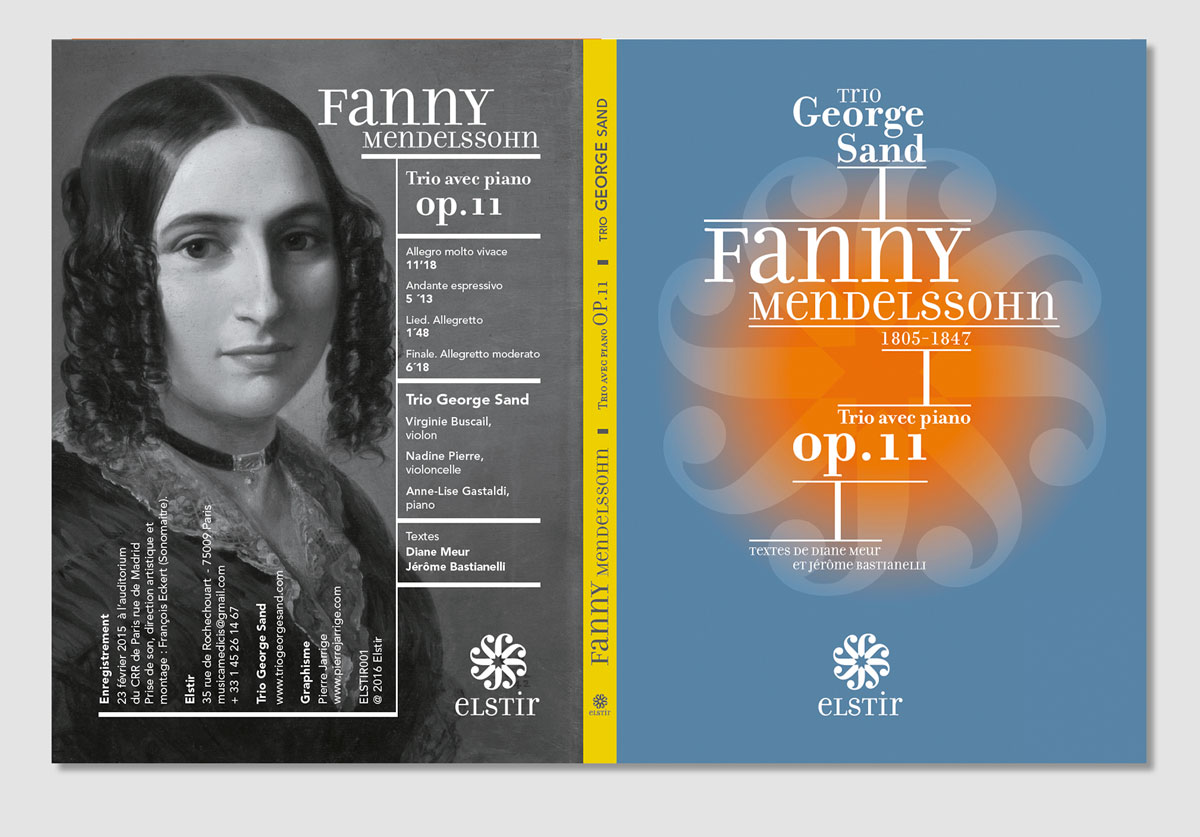 Trio avec piano op.11 de Fanny Mendelssohn. Trio George Sand. Elstir Éditions