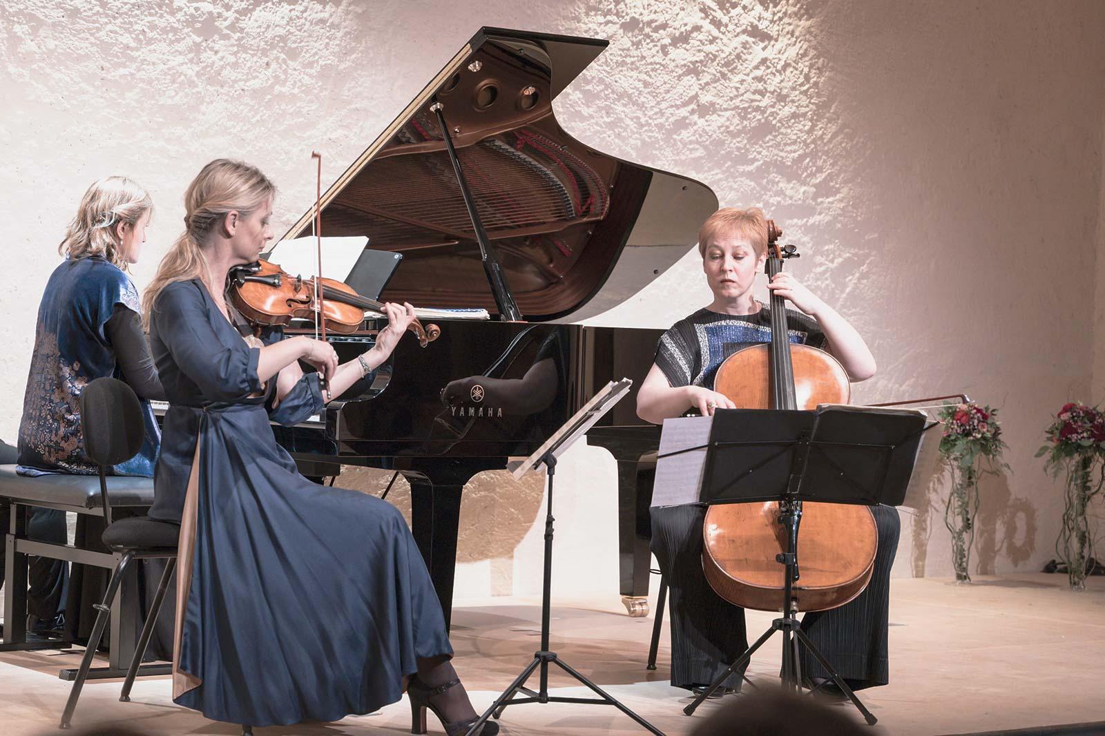 e Trio George Sand, composé de Virginie Buscail, violoniste, Diana Ligeti, violoncelliste, et d'Anne-Lise Gastaldi, pianiste, propose une approche nouvelle et ambitieuse du concert classique.